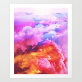 Alpha waves Art Print