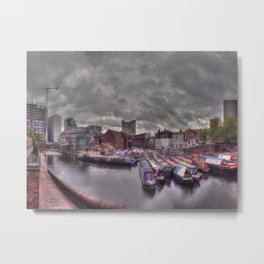 Gas Street Basin - the Canal House at dusk Metal Print