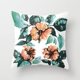 Altar Tropical Throw Pillow