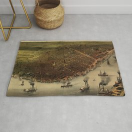 The city of New Orleans (1885) Rug
