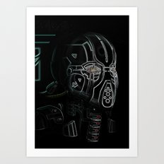 Glitchmask Zone Art Print