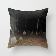 Cemetery Forest Throw Pillow
