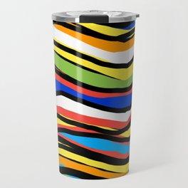 Wavy Colors Pattern Travel Mug
