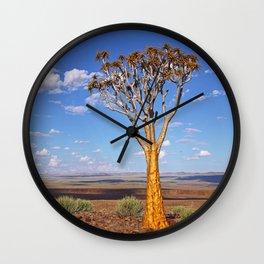 Namibian landscape Wall Clock
