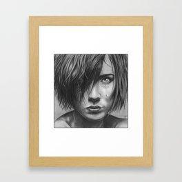 Love Hurts Pencil Drawing Framed Art Print