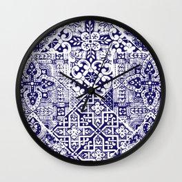 celtic ocean blue Wall Clock