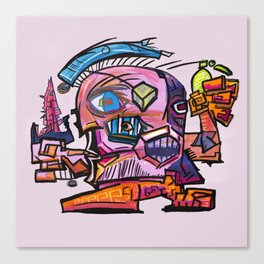 Hector, the Cubist Assassin Canvas Print