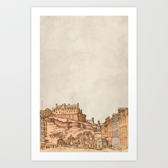 Tea in Edinburgh Art Print