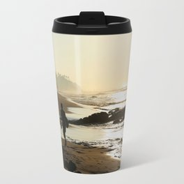 Sunset Beach Walk Travel Mug