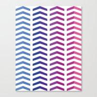herringbone Canvas Prints featuring Herringbone by Snowberry Co.
