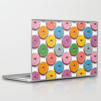 donuts Laptop & iPad Skins featuring Donuts by Helene Michau