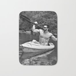 Kayak Beast by Jeff Brewster Bath Mat