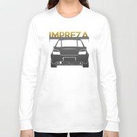 subaru Long Sleeve T-shirts featuring Subaru Impreza by Vehicle