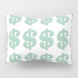 Mint Dollars Pillow Sham