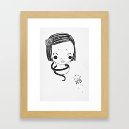 onna no ko Framed Art Print