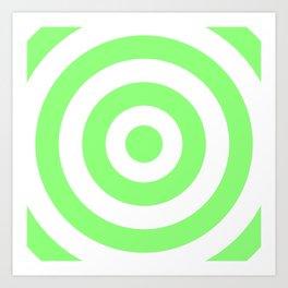 Target (Light Green & White Pattern) Art Print