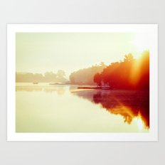 Sunrise Over The Lake Art Print