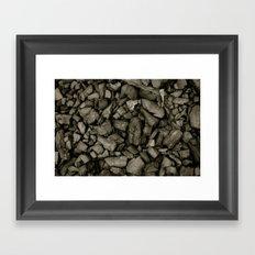 Coal Framed Art Print