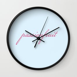 PASSIONFRUIT. Wall Clock
