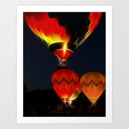 Night Of The Balloons photography Art Print