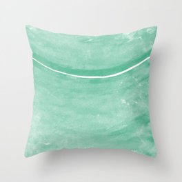 Cohesion Watercolor Print in Mint Throw Pillow