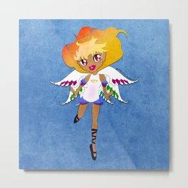 Rainbow Cupid v02 Metal Print