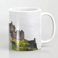edinburgh Mugs featuring Edinburgh castle by Svetlanism