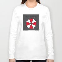 resident evil Long Sleeve T-shirts featuring No119 My RESIDENT EVIL minimal movie poster by Chungkong