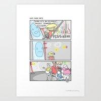 power rangers Art Prints featuring Pow Pow Power Rangers by Bluh