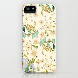 DUSTY BLUE PATTERN iPhone Case