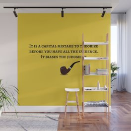 Sherlock Holmes Quote IV Wall Mural