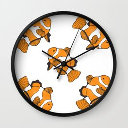 Sea-life Collection - Clownfish Wall Clock