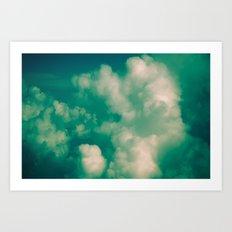 Clouds 01 Color Art Print
