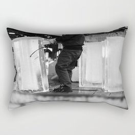 Unloading Ice, Tokyo, Japan Rectangular Pillow
