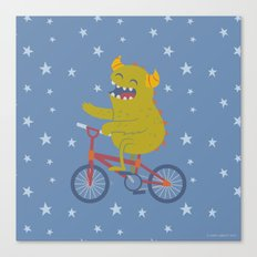 Cycling Monster Canvas Print