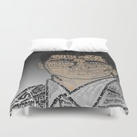 archer Duvet Covers featuring Typographic Sterling Archer by aquenne