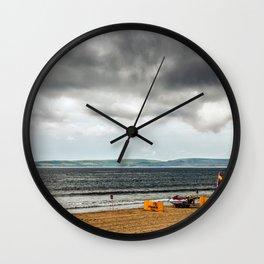 Portsmouth beach Wall Clock