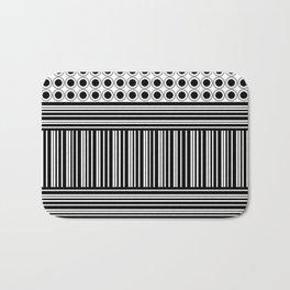 Circles and Barcode Bath Mat