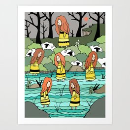 The Water Lovers Art Print