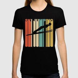 Retro Style Ski Jumping Ski Jumper T-shirt
