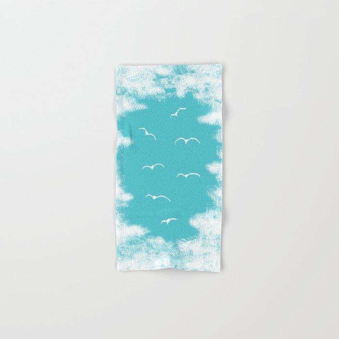 Seabirds and Clouds Hand & Bath Towel