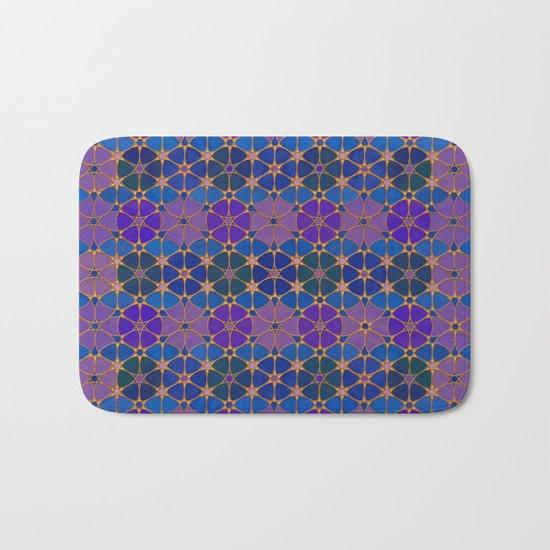Flower of Life Pattern 3 Bath Mat