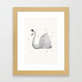 Whimsical Swan Framed Art Print