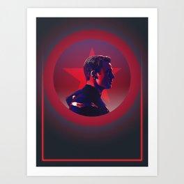 CaptainAmerica 80's Alternative Character Poster Art Print