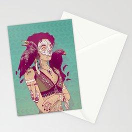 Raven Lady Stationery Cards