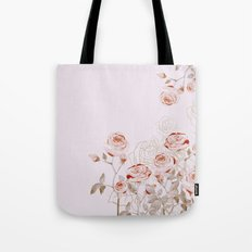 FRENCH PALE ROSES Tote Bag