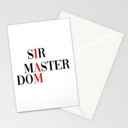 Sir master dom. Dominator bondage ddlg Stationery Cards