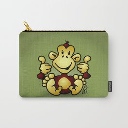 Manic Monkey with 4 thumbs up Carry-All Pouch