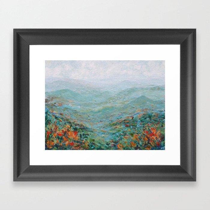 Blue Ridge October Gerahmter Kunstdruck