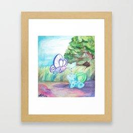 Butterfree And Bulba-saur Framed Art Print